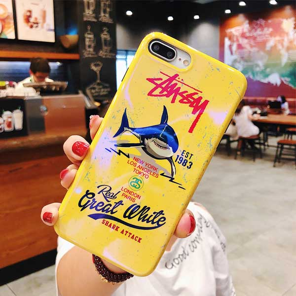 個性 iphone xr/xsカバー stussy