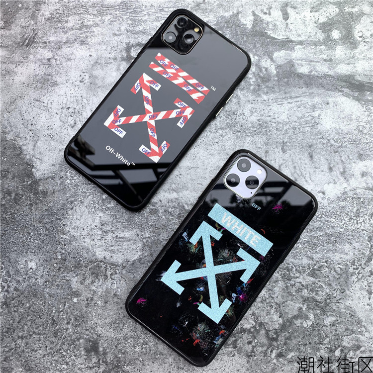 off-white iPhone 11 pro maxカバー ガラス表面